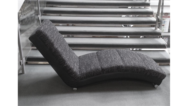 relaxliege holiday chaiselongue in schwarz und grau. Black Bedroom Furniture Sets. Home Design Ideas