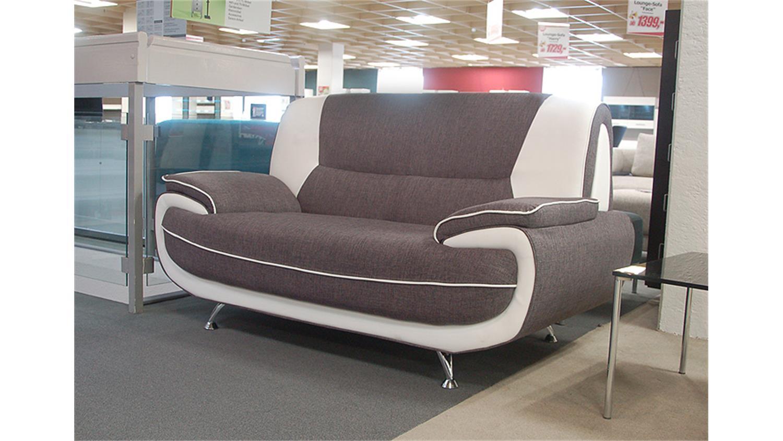 sofa palermo 2 sitzer in webstoff grau mit metallf en. Black Bedroom Furniture Sets. Home Design Ideas