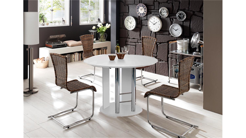 esstisch rondo ausziehbar 145x105 cm wei. Black Bedroom Furniture Sets. Home Design Ideas