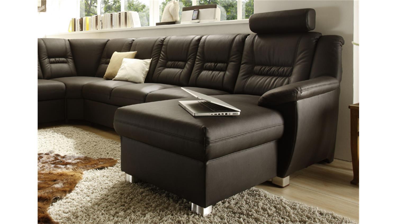 wohnlandschaft vario mit relaxfunktion und bett dunkelbraun. Black Bedroom Furniture Sets. Home Design Ideas