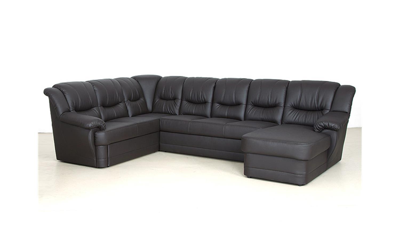 wohnlandschaft orion schwarz mit bettfunktion ot r. Black Bedroom Furniture Sets. Home Design Ideas