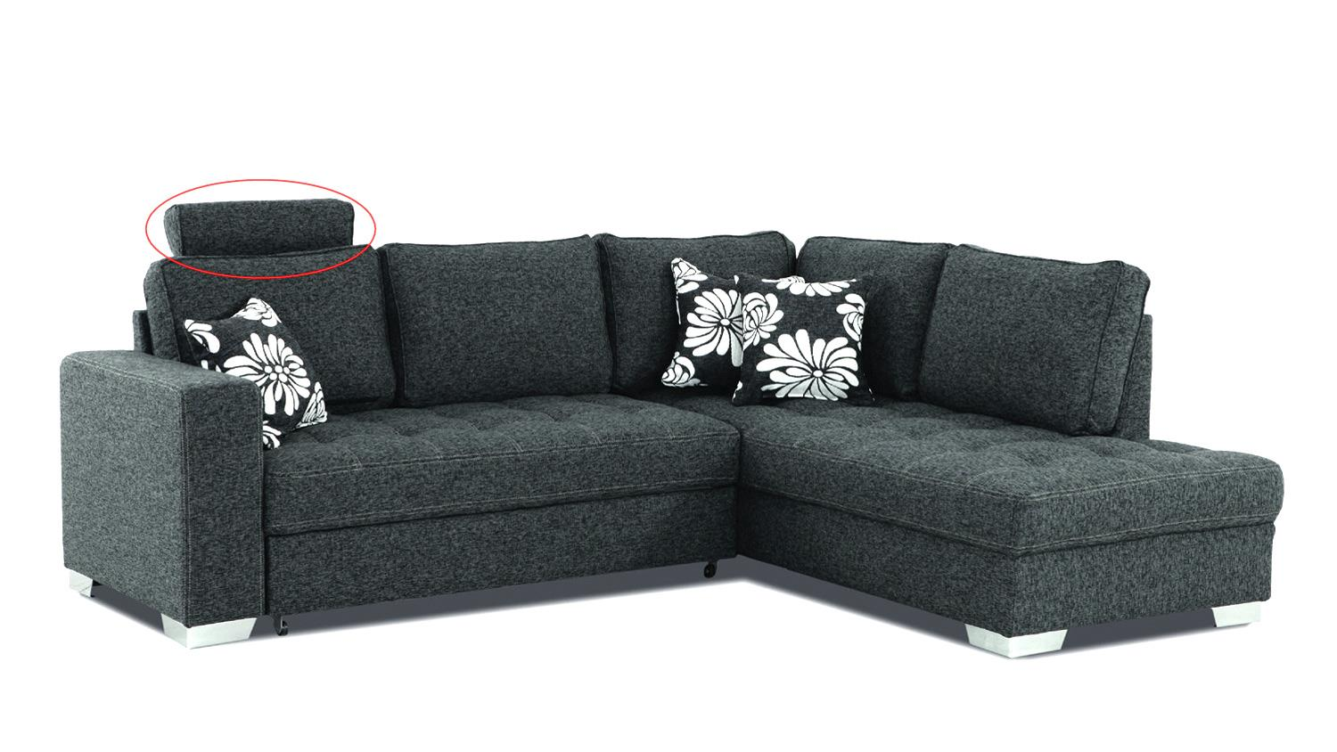 ecksofa arles dunkelgrau inkl kissen 233x215 cm. Black Bedroom Furniture Sets. Home Design Ideas