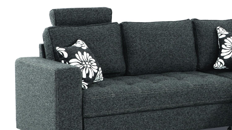 ecksofa arles dunkelgrau inkl kissen 233x215 cm. Black Bedroom Furniture Sets. Home Design Ideas