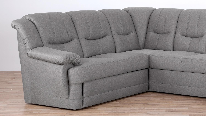 wohnlandschaft orion in stoff grau mit nosagfederung und. Black Bedroom Furniture Sets. Home Design Ideas