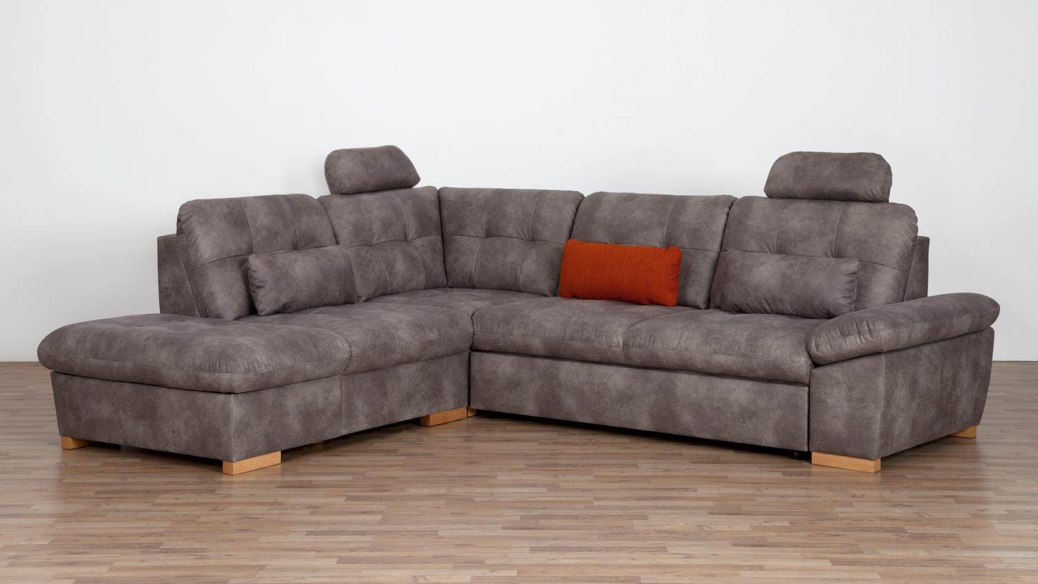 ecksofa hugo in microfaser stone braun grau mit nosagfederung 275x185. Black Bedroom Furniture Sets. Home Design Ideas