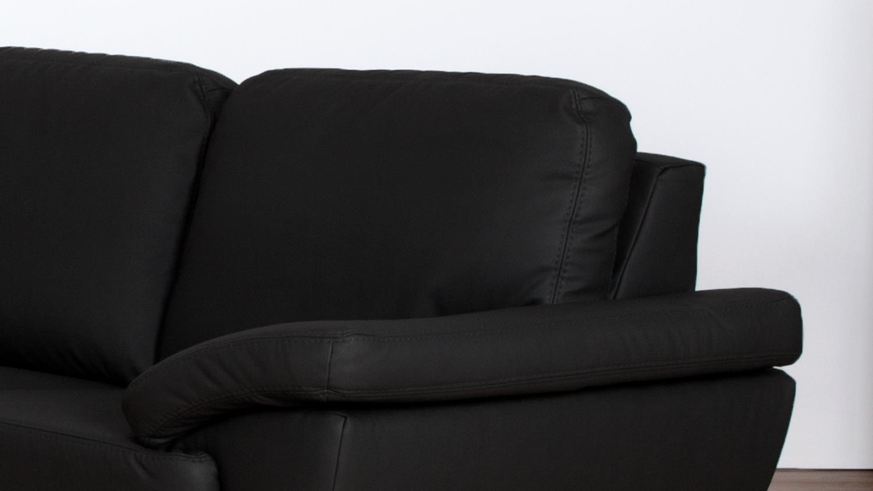 sofa gino 2 sitzer bezug in schwarz inkl nosagfederung l nge 175 cm. Black Bedroom Furniture Sets. Home Design Ideas