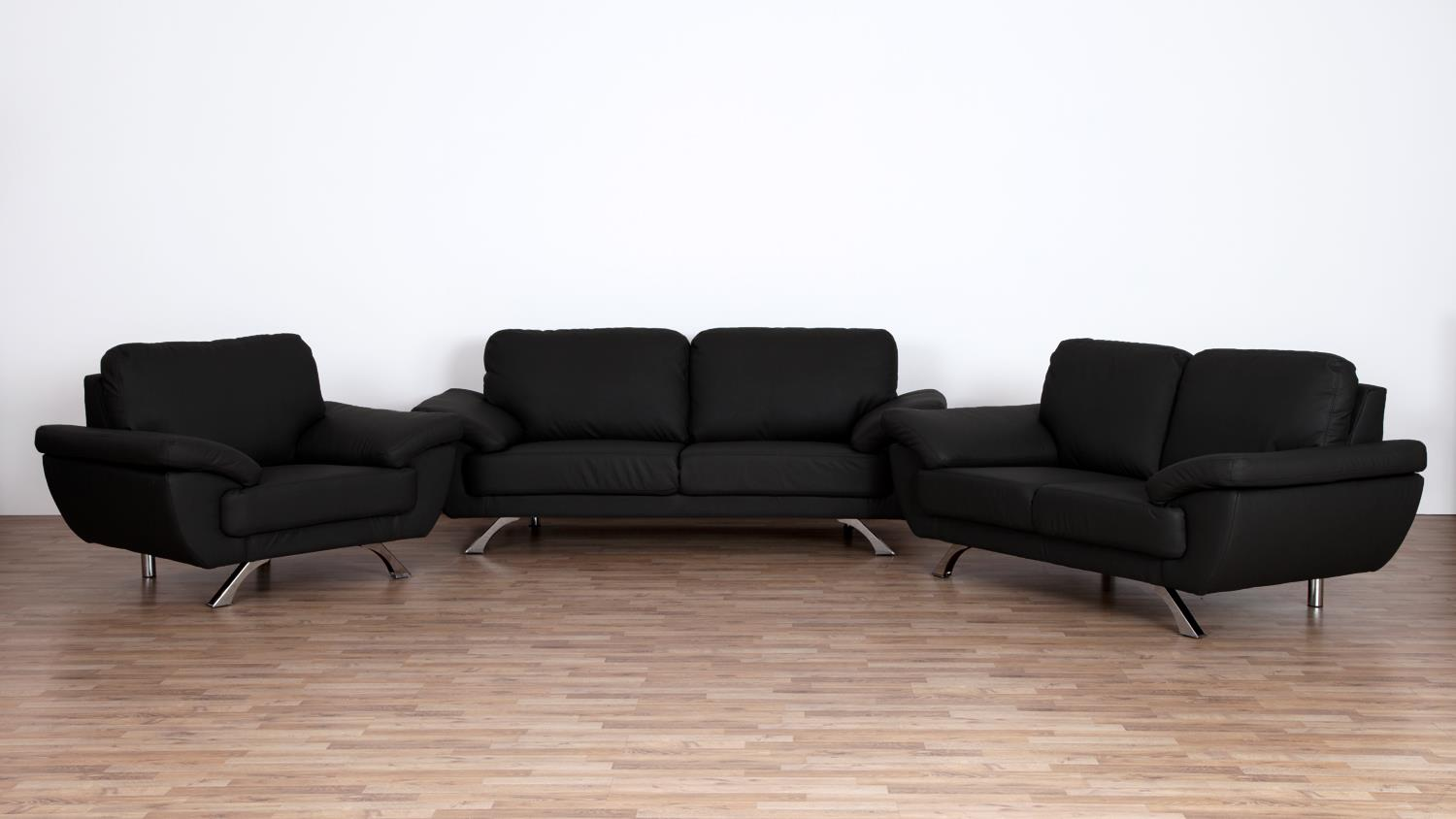 sofa gino 2 sitzer bezug in schwarz inkl nosagfederung l nge 175 cm. Black Bedroom Furniture Sets. Home Design Ideas