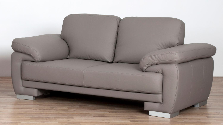 sofa laura 2 sitzer bezug greige f e massiv silber mit nosagfederung. Black Bedroom Furniture Sets. Home Design Ideas