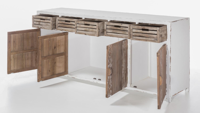 sideboard 200 cm aimann shabby chic kommode in antik wei. Black Bedroom Furniture Sets. Home Design Ideas