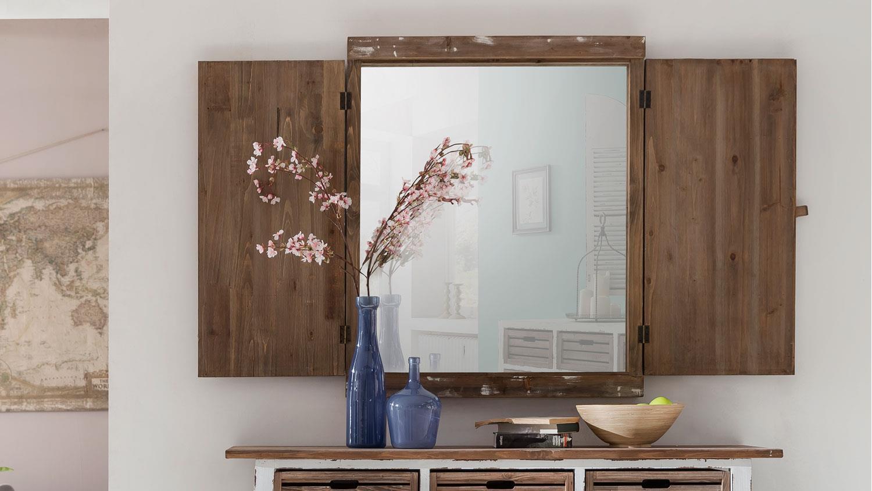 shabby chic deko spiegel aimann mit fensterl den. Black Bedroom Furniture Sets. Home Design Ideas