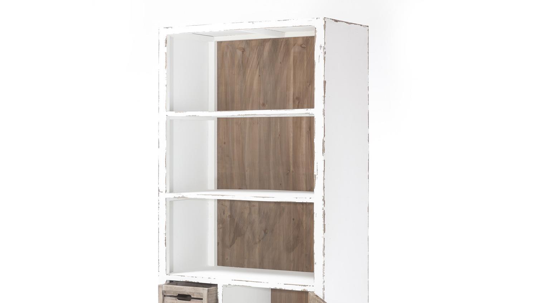 regal aimann aus tanne shabby chic standregal in antik wei. Black Bedroom Furniture Sets. Home Design Ideas