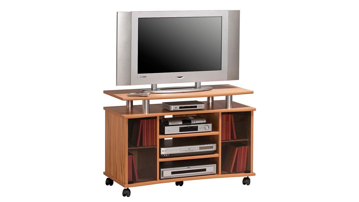 tv rack maja 7362 tv board in kernbuche mit rauchglas. Black Bedroom Furniture Sets. Home Design Ideas