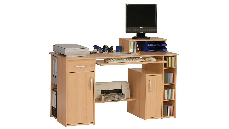 Schreibtisch maja 1929 computertisch in buche for Computertisch in buche