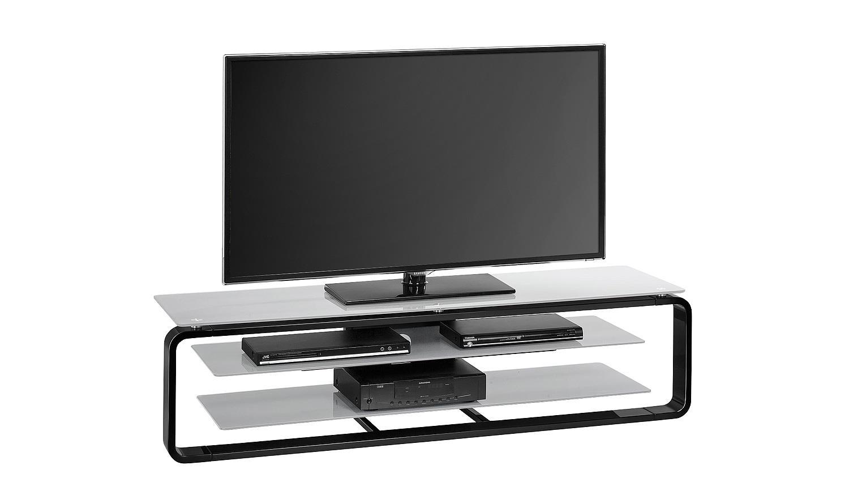 tv board maja 1262 in schwarz hochglanz und glas grau. Black Bedroom Furniture Sets. Home Design Ideas