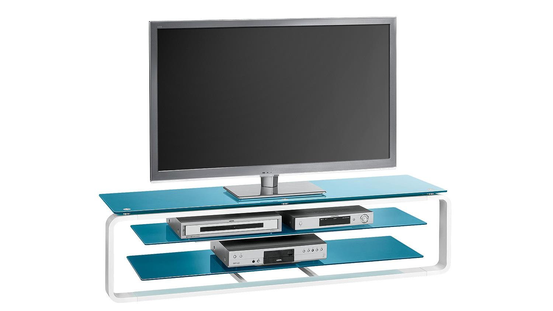 tv board maja 1262 in wei hochglanz und glas petrol. Black Bedroom Furniture Sets. Home Design Ideas