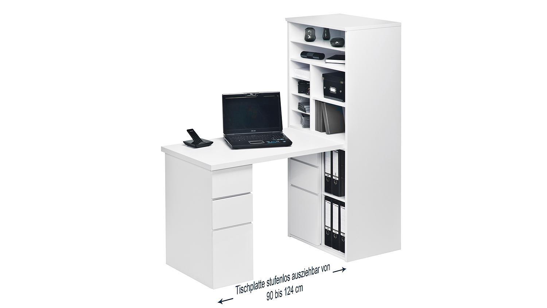 mini office maja 9562 schreibtischkombi in wei und hochglanz. Black Bedroom Furniture Sets. Home Design Ideas