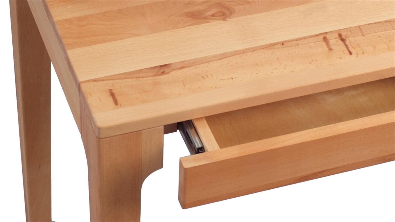 Schreibtisch kona kernbuche massiv ge lt 110x55 cm for Schreibtisch massiv