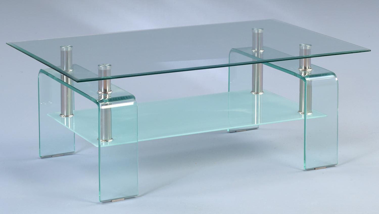 Couchtisch caruso glastisch klar verchromt 100x60 cm for Couchtisch 100 x 60