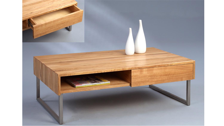 couchtisch lilly wildeiche massiv mit schubkasten und. Black Bedroom Furniture Sets. Home Design Ideas