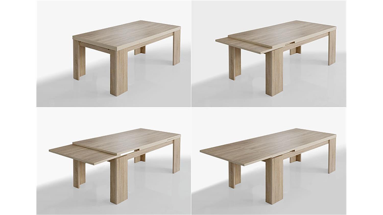 Tischgruppe Big Zip Sonoma Eiche Sagerau 180 280 Cm