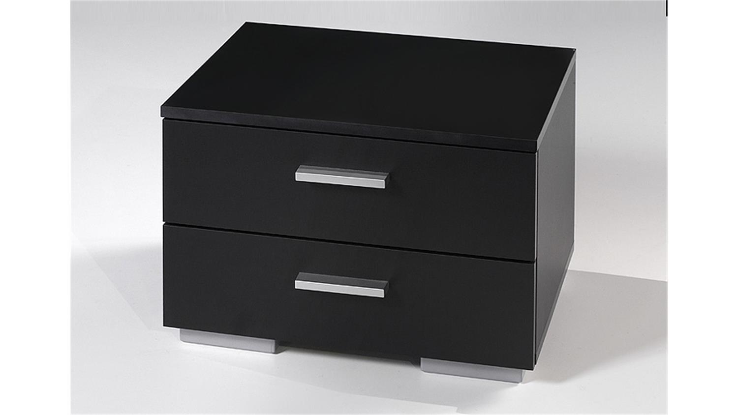 nachtkommode two kommode nachtkonsole in schwarz dekor. Black Bedroom Furniture Sets. Home Design Ideas