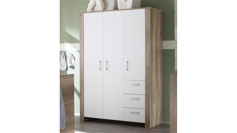 kleiderschrank nick wildeiche tr ffel und wei matt. Black Bedroom Furniture Sets. Home Design Ideas