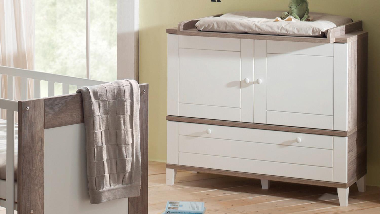 Schön Babyzimmer BELLA Babymöbel Set Wildeiche Trüffel Und Weiß