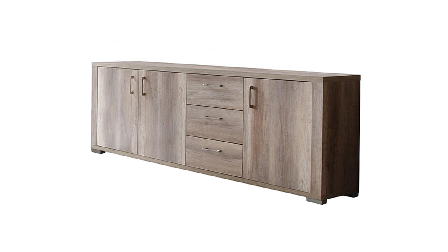 teak anrichte se15 2d teakholz antik massiv geb rstet 250cm tisch sideboard kommode smash. Black Bedroom Furniture Sets. Home Design Ideas