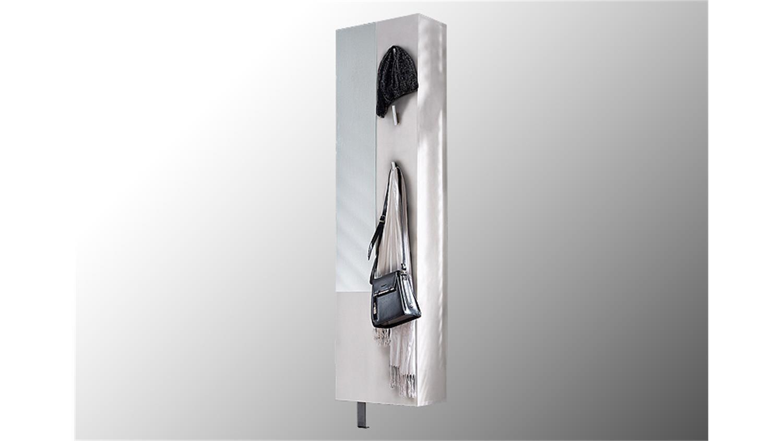 Schuhschrank woody i garderobe schuhregal in wei drehbar for Schuhregal mit spiegel
