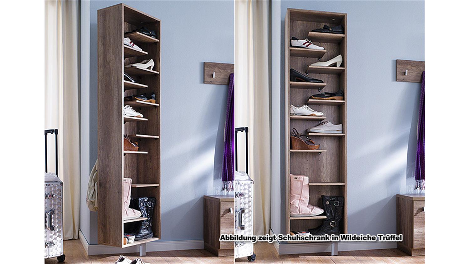 schuhschrank woody ii schuhregal garderobe in wei drehbar. Black Bedroom Furniture Sets. Home Design Ideas