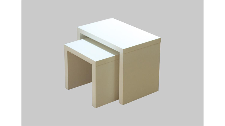 beistelltische color twin tischset 2er set in wei. Black Bedroom Furniture Sets. Home Design Ideas