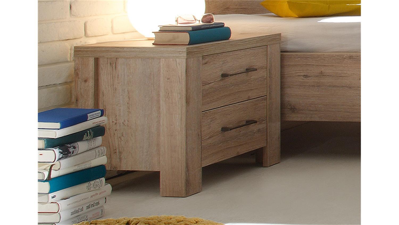 nachttisch ii lupo nachtkommode in san remo eiche dekor. Black Bedroom Furniture Sets. Home Design Ideas