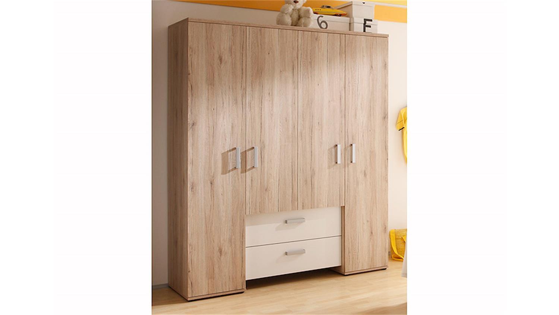 kleiderschrank twin san remo eiche und wei. Black Bedroom Furniture Sets. Home Design Ideas