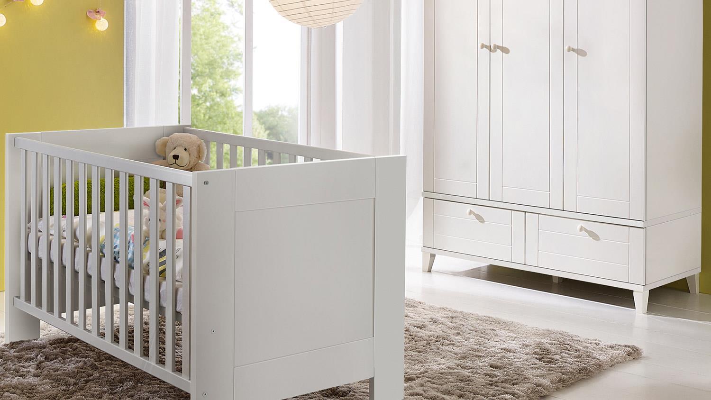 babyzimmer bella babym bel set in wei matt 3 teilig. Black Bedroom Furniture Sets. Home Design Ideas