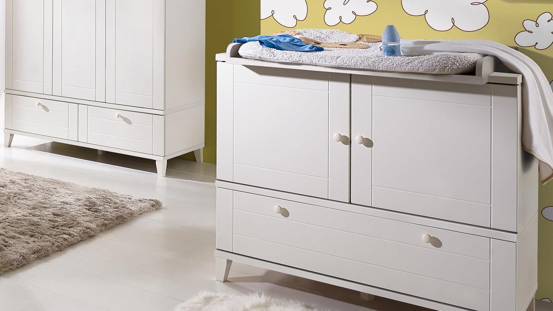 Fesselnd Babyzimmer BELLA Babymöbel Set In Weiß Matt 3 Teilig