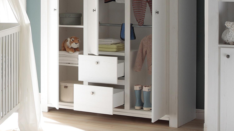 babyzimmer dandy 3 teilig kinderzimmer anderson pine wei. Black Bedroom Furniture Sets. Home Design Ideas