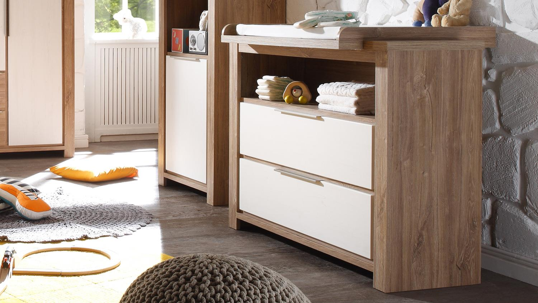 wickelkommode granny stirling oak und anderson pine. Black Bedroom Furniture Sets. Home Design Ideas