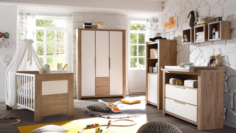 babyzimmer granny stirling oak anderson pine 5 teilig. Black Bedroom Furniture Sets. Home Design Ideas