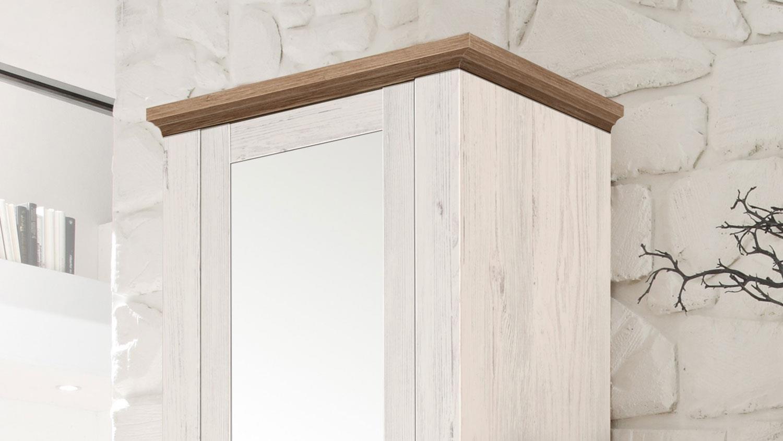 garderobe country anderson pine stirling oak set 4 teilig. Black Bedroom Furniture Sets. Home Design Ideas