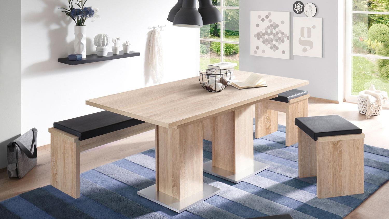 esstisch table dance a2 eiche s gerau ausziehbar 160 210x90. Black Bedroom Furniture Sets. Home Design Ideas
