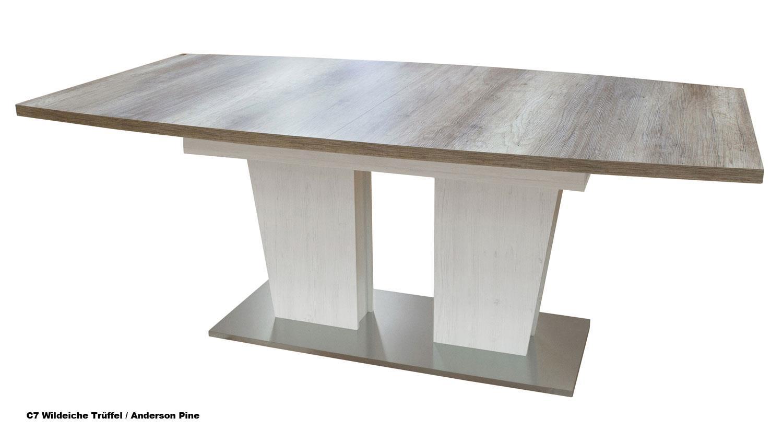 Esstisch wildeiche trüffel ausziehbar  Esstisch TABLE DANCE C6 Stirling Oak ausziehbar 160-210x90