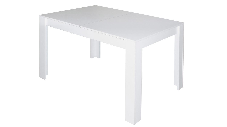 Esstisch bull k chentisch in wei matt ausziehbar 120x80 for Tisch ausziehbar 120x80