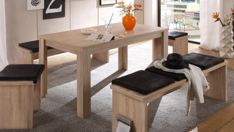esstisch bull k chentisch in wei matt ausziehbar 120x80. Black Bedroom Furniture Sets. Home Design Ideas