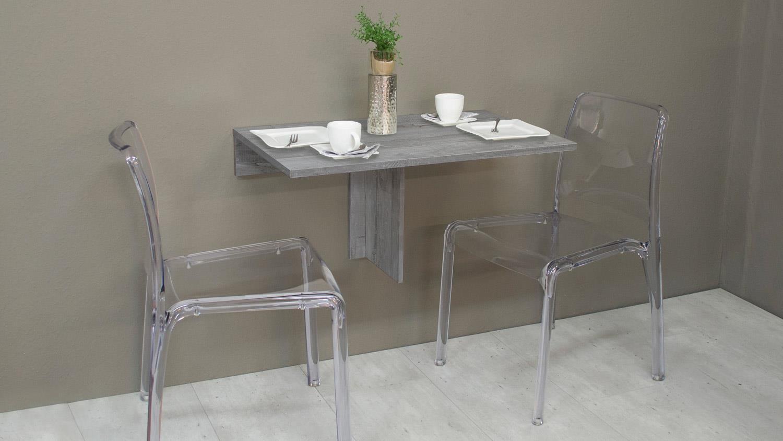 Klapptisch esstisch  KLAPPI Wandtisch Beton Look Esstisch Tisch eckig