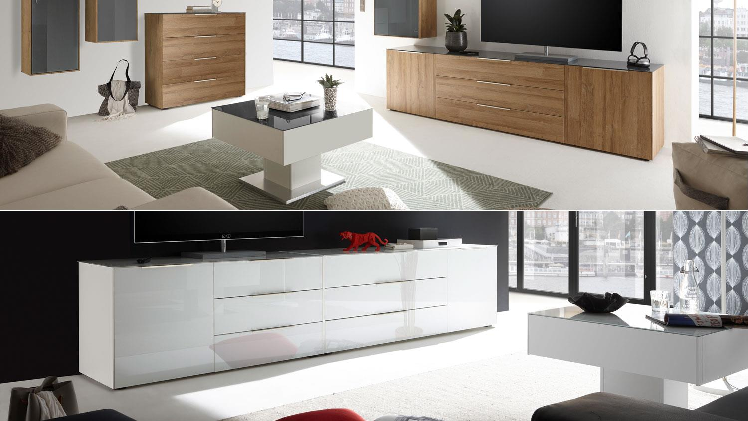 couchtisch mix box wei matt edelstahloptik und glas. Black Bedroom Furniture Sets. Home Design Ideas