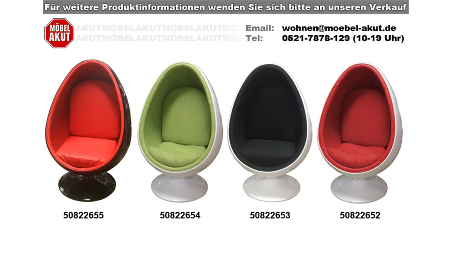 lounge sessel retro design sitzei space egg schwarz rot. Black Bedroom Furniture Sets. Home Design Ideas