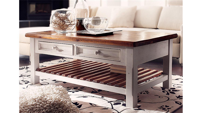 couchtisch bodde landhaus tisch kiefer massiv wei honig. Black Bedroom Furniture Sets. Home Design Ideas