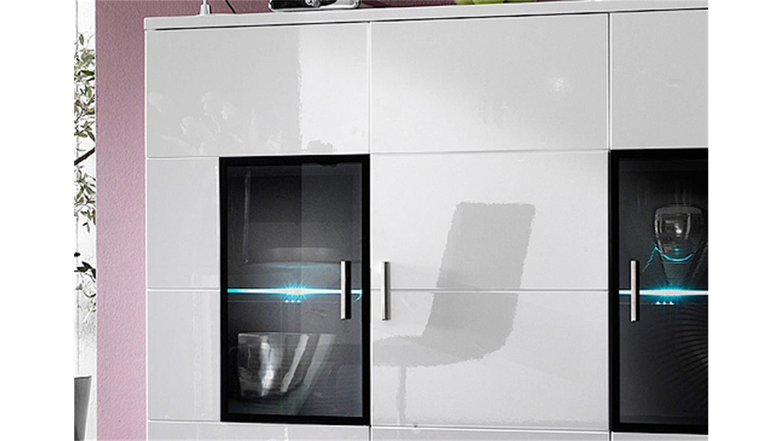 CORANO T15 Kommode Wohnzimmer in hochglanz weiß