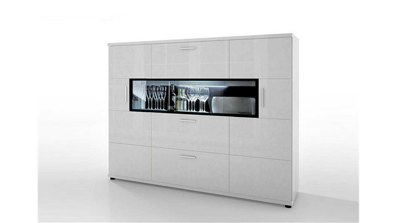 corano t14 kommode wohnzimmer in hochglanz weiß