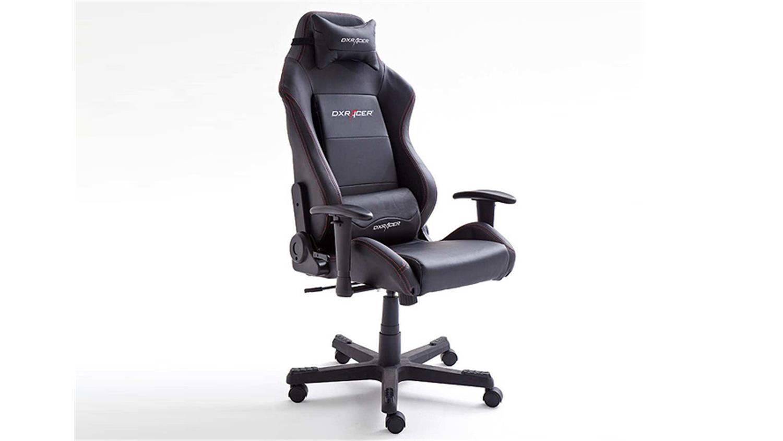 schreibtischstuhl b rostuhl dx racer 3 lederlook schwarz game chair. Black Bedroom Furniture Sets. Home Design Ideas